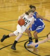 Steph Boehm of West dribbles into the lane