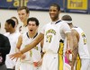 Jarrell Crayton and the Yellowjackets celebrate