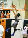 Skyview's Tre'von Strong dunks the ball