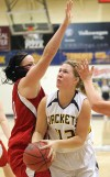 MSUB's Kaylee Goggins, 43, puts up a shot