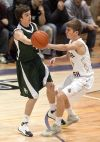 Central's Cam Caraveau passes the ball