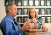 Children's Clinic administrator Dennis Sulser and President Dr. Janis Langohr