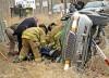 Single-vehicle wreck injures one