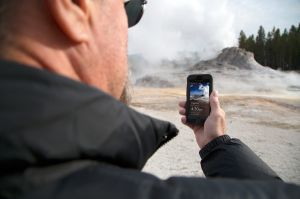 App contains Yellowstone geyser eruption times