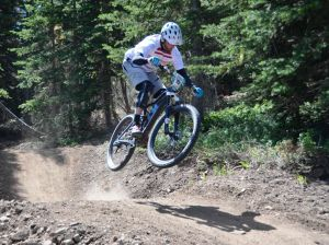Mountain bikers go with the flow