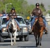 Horseback riders, bicyclists and runners participated