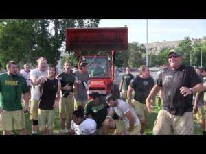 Rocky football team takes the ice bucket challenge