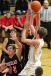 West's Jared Samuelson, 32, puts up a shot