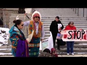 Groups protest at Capitol over bison and wolf hunts