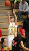 Zach Funyak, 20, puts up a shot