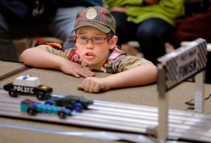 Scouts square off in annual Pinewood Derby races