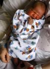 Kery Nelms holds her newborn son Damien Nelms