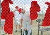 Ballgame lifts prison inmates' spirits