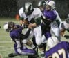 Mitch Thompson of Laurel makes a tackle