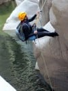 Rappeling over Salome Creek
