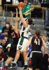 Justyn Juhl of Central scores the game-winning basket
