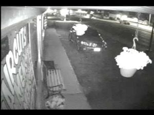 Feature video: Billings thief caught on camera stealing flowers
