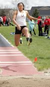 Senior's Taylor Mims long jump