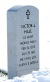 Monuments for Glenn and Victor Hall