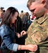 Sgt. Corey Shafer places an engagement ring