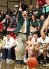 Rocky Mountain College coach Bill Dreikosen reacts