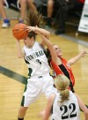 Allie Lucas of Central grabs a rebound