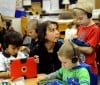Students in Courtney Niemeyer's kindergarten class