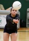 Ashlee Janitell bumps the ball