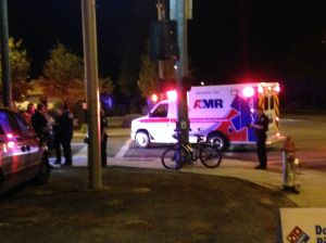 Van collides with cyclist on 6th street west; cyclist sent to hospital with head injury
