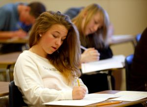 High school juniors take ACT for free