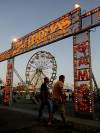 The MontanaFair midway lights up