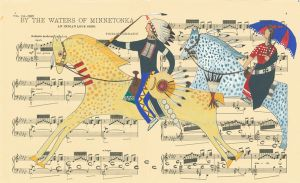 Northen Cheyenne artist's ledger works tell women's stories