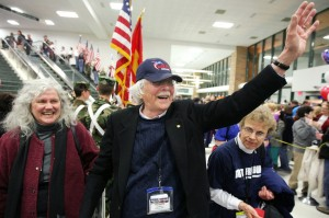 Veterans receive raucous welcome home