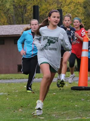 St. Francis Upper seventh-grade girls cross country