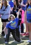 Special Olympian Emily Pennington dances in Wendy's Field