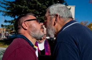 Mike and Marvin, together for 30 years, married Tuesday in Wyoming