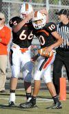 Senior celebrates a touchdown