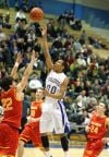 Kendal Manuel of Billings Skyview takes a shot