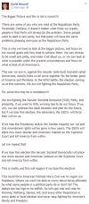 Second civil war — David Howard Facebook post