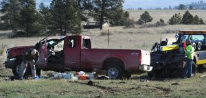 News photo: No driver at the scene of Highway 3 rollover