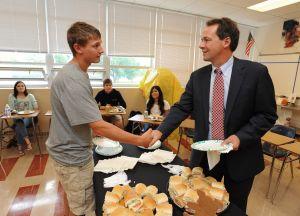Dual-credit, iPads featured in Bullock school tour