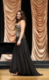 Ariana Lake competes in the evening gown section