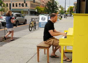 'Social experiment' brings two pianos to downtown Missoula