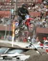 Big Ed makes jump over a dozen cars, first since injury