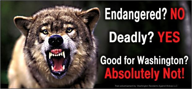 Anti-wolf billboard
