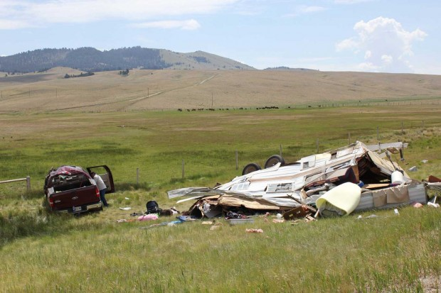 Truck Camper Roll On I 15 South Of Butte