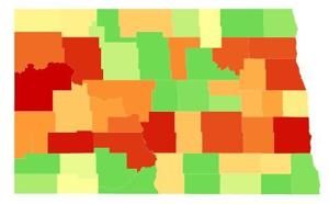 Where you're most likely to become a victim of a violent crime in North Dakota