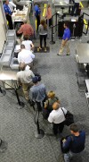 TSA security at the Billings Logan International Airport