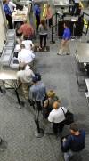 TSA security at the Billings Logan International Airport