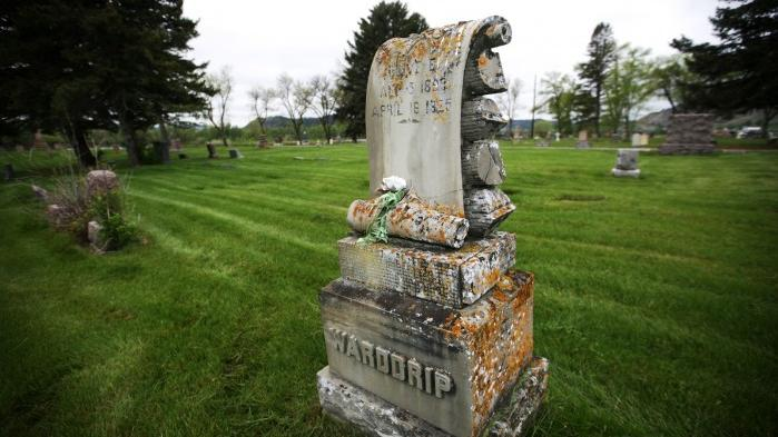 Carved sandstone grave markers montana news